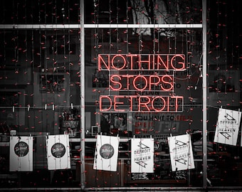 Lustre Print: Nothing Stops Detroit
