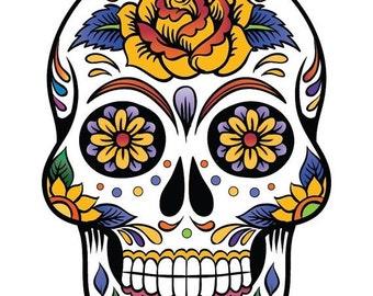 ON SALE Sugar Skull - pop art - 138 x 199 stitches - Cross Stitch Pattern Pdf - INSTANT Download - B684