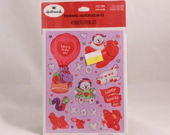 Vintage Hallmark Love is in the Air Valentine Stickers. 4 Sealed Sheets