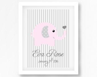 Nursery Name Print, Baby Name Print, Baby Girl Name Sign, Personalised Baby Gift, Nursery Wall Art, Baby Girl Decor, Nursery Animal Print