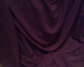 "Deep Dark Purple Merlot Stretch Power Mesh *  Sold by the Yard * 60"" Wide * 4-Way Stretch"