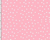 Loralie Dinky Dots Pink Cotton Fabric BTY