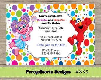 sesame street invite | etsy, Party invitations