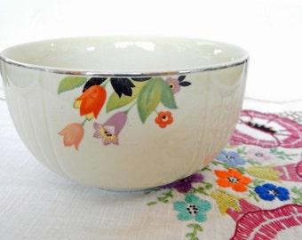Halls Superior Quality Kitchenware, Art Deco Crocus, bowl
