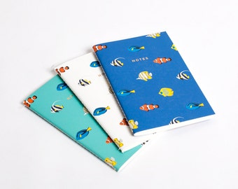 Tropical Fish Notebook Journal Diary Set