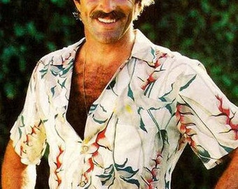Tom Selleck Magnum PI  Vintage Poster