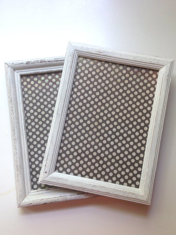 Set Of 2 Antique White Gallery Wall Picture Frames Shabby Chic