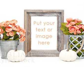 Mockup Frame / Empty Frame / Blank Frame / Display Frame / Fall Styled / Photo Frame / Background Frame / Print Display / StockStyle-747