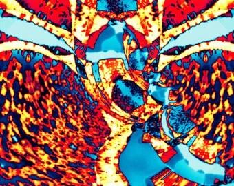 Sky Beast - Digital Art printed on canvas