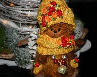 Bear Leopold i - artist teddy bear, teddy bear OOAK, artist bear