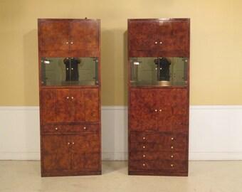 F25370E/25371E:  Pair HENREDON Mid Century Modern Wall Unit Cabinets