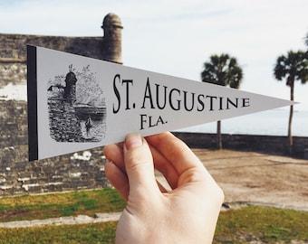 St. Augustine Letterpress Pennant