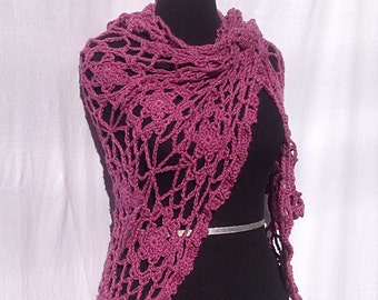 Flower Shawl in Pink