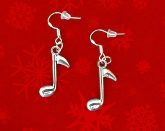 50% SALE Christmas Earrings..Music Note Earrings..Music Earrings..Music Gift..Musician Gift For Her.Music Lover Gift For Women FREE SHIPPING