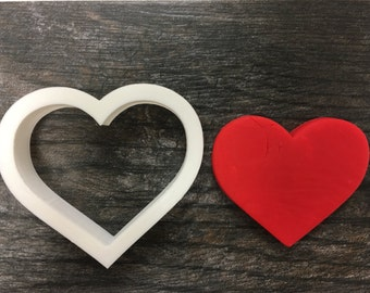 Heart Cookie Cutter, Mini, Standard and Large Sizes, 3D Printed