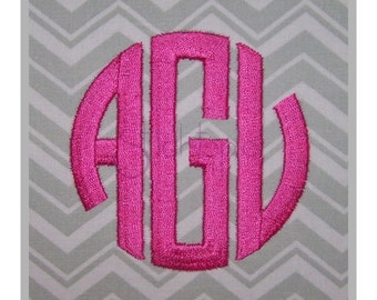 Circle Monogram Embroidery Font Set 1″ 1.5″ 2″ 2.5″ 3″ - Machine Embroidery Fonts Master Circle Embroidery Font 11 Formats Instant Download