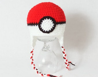 Made to Order Pokemon Pokeball Hat for all Ages!