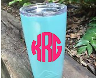 Teal Monogrammed Ozark Cup 20 Ounce