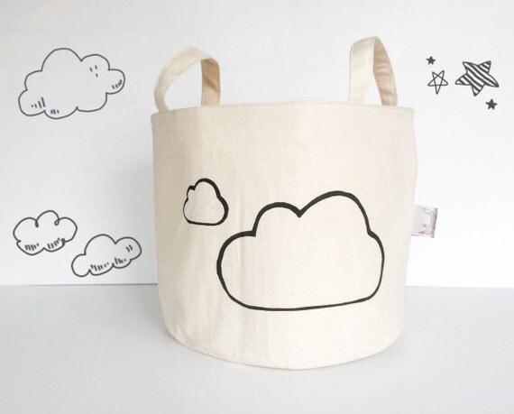 rangement grand jouet panier d cor de cr che nuage panier. Black Bedroom Furniture Sets. Home Design Ideas