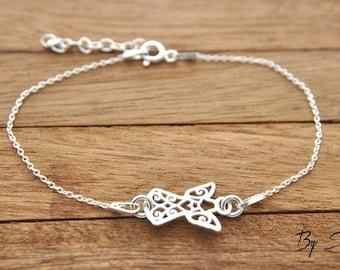 Sterling Silver Angel bracelet, pendant angel, silver angel, little angel, angel, guardian angel, on chściny, child, guardian angel bracelet