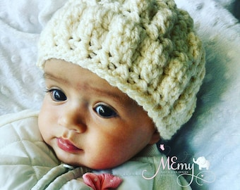 Crochet Baby Hat / Crochet Girl Hat / Crochet Beanie / Baby Hat / Winter ahat