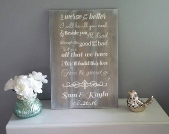 Custom wedding song lyric wood sign