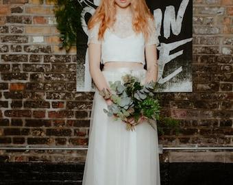 Silk Ivory Bridesmaid or Wedding Top Wedding Separates