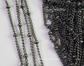 2 Meters, Satellite Chain, Antique Silver Finished Brass Chain, 135 Curb Ball Chain, Basic Fashion Jewelry Chain, Quality Chain
