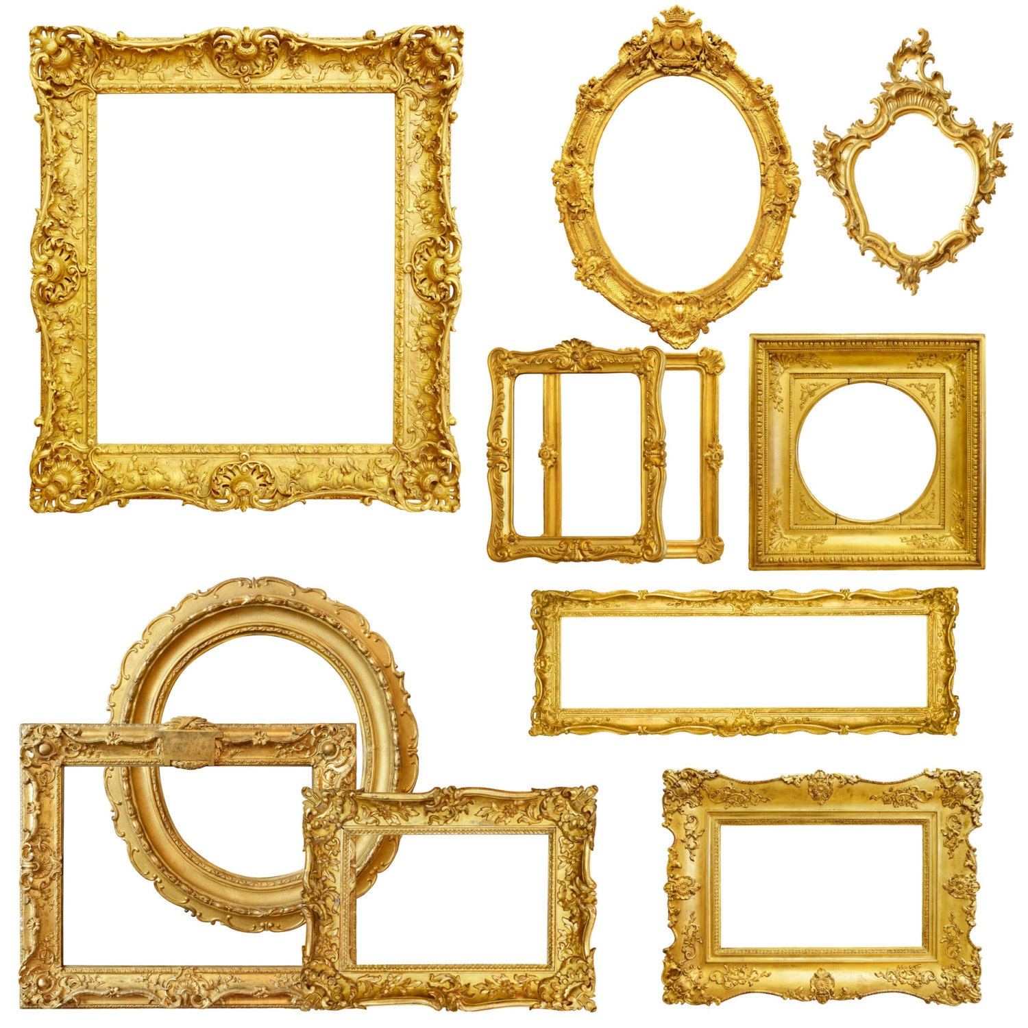 Gold Picture Frame Clipart, Digital Picture Frames, Frame Clip Art ... for Ornate Picture Frame Clip Art  166kxo