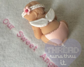Miscarriage Keepsake Infant Loss Clay Baby Memorial Sympathy Gift for Stillborn Pregnancy Loss SIDS