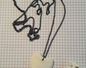 Heart shaped Vertebrae necklace