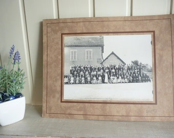 1930s Wedding Photograph French country village wedding vintage photo black and white photo
