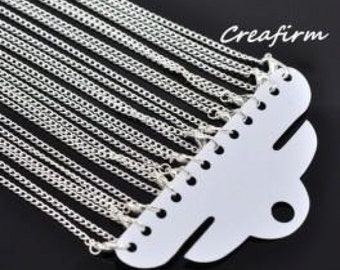 12 2x3mm necklaces silver