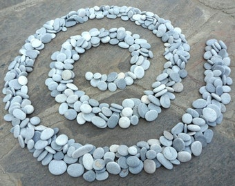 500 Craft Pebbles, Beach Pebbles, Beach Stones, Grey Stones, Flat Stones, Grey Pebbles,  Small Stones, Stone Buttons, Smooth Pebbles