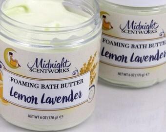 Foaming Bath Whip - Lemon Lavender - Whipped Soap - Bath Whip - Fluffy Whipped Soap - Shave Soap - Foaming Soap - Bath Butter - Bath Soap