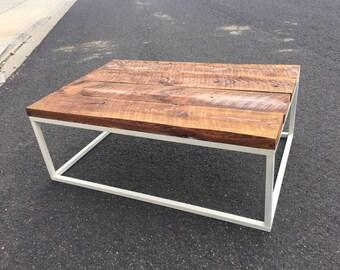 Barn wood coffee table 28x48