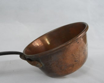 French Vintage copper ladle
