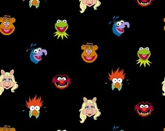 Muppets Characters Fabric Miss Piggy Kermit Fozzy Jim Henson Springs Creative Cotton BTY