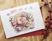 Christmas Card- Friend Christmas- Dachshund