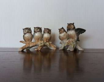 Vintage Owl Figurines - 2 Pieces and Excellent condition