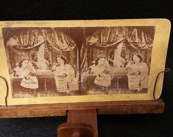 Tragedy and Comedy - Original Stereoscopic card