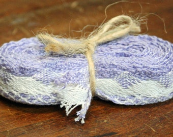 Cotton lace, hand made, in packs of 4 mt