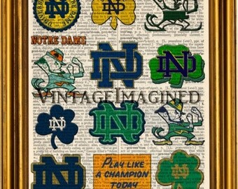 """Shop """"notre dame fighting irish"""" in Art & Collectibles"""