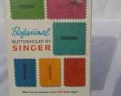 Professional Singer buttonholer attachment, 1970s