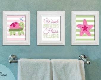 Nautica Bathroom   Under The Sea Bathroom   Kids Bathroom   Girly Bathroom    8x10 Prints