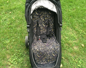 Ready to ship - Paintsplatter Baby Jogger City Mini (4 wheel or GT) Stroller Liner - made to order BLACK