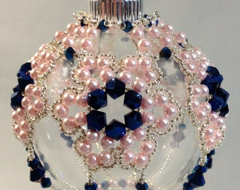 Blue and Pink Flower Ornament