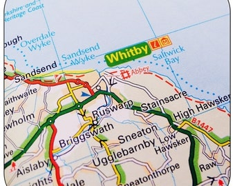 Whitby Map Coasters