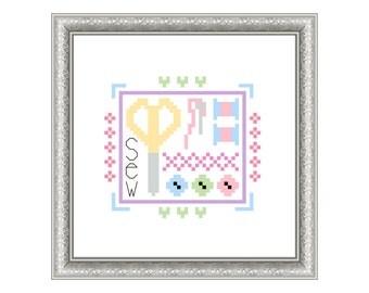 Sew Sampler cross stitch pattern
