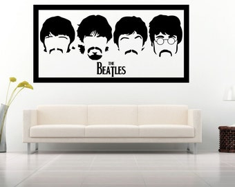 Inspired by Beatles, Silhouette Wall Art Vinyl Decal Sticker